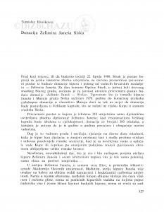 Donacija Želimira Janeša Sisku / Tomislav Hruškovec