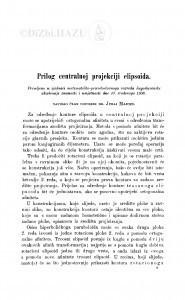Prilog centralnoj projekciji elipsoida / J. Majcen