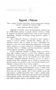 Bogomili i Patareni / F. Rački