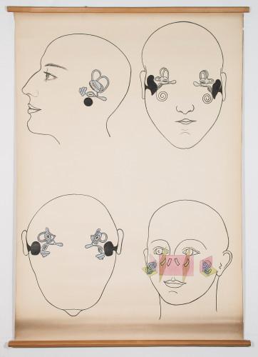Četiri prikaza položaja srednjeg i unutarnjega uha